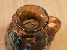 Load Image into Gallery Viewer, Vintage MERCURY GLASS ? Syrup PITCHER Creamer ~ Hand Blown Hammered Carnival