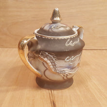 Load Image into Gallery Viewer, Vintage Asian Japanese PORCELAIN SUGAR BOWL ~ Satsuma Moriage Raised 3D DRAGON