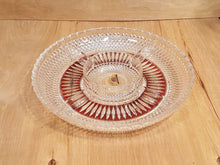Load Image into Gallery Viewer, Vintage RUBY & Clear 24% Pbo Lead CRYSTAL DIVIDED DISH GERMANY Appetizer Relish