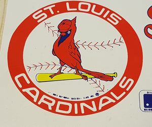 Vintage LOT of 2 SAINT LOUIS CARDINALS BUMPER STICKER Decals ~ MLB Baseball Club