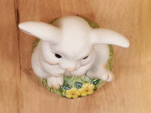 Load Image into Gallery Viewer, Vintage Silly BUNNY Rabbit MUSIC BOX ~ You Light Up My Life ~ Porcelain Japan
