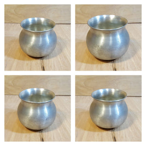 PEWTER CRAFTERS of CAPE COD Massachusetts ~ SUGAR BOWL w/ SPOON and CREAMER