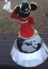 Load Image into Gallery Viewer, DISNEY Sorceror MICKEY MOUSE Figurine ~ SWAROVSKI CRYSTALS ~ Arribas Brothers LE