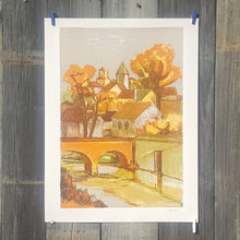Load Image into Gallery Viewer, SIGNED ELIANE THIOLLIER ~ LITHOGRAPH Art Print ~ Farm House LANDSCAPE