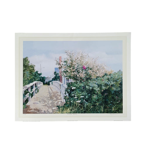 SIGNED BETSY BENNETT Art PRINT ~ CAPE COD Massachusetts House ~ 28x22