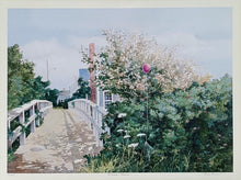 Load Image into Gallery Viewer, SIGNED BETSY BENNETT Art PRINT ~ CAPE COD Massachusetts House ~ 28x22