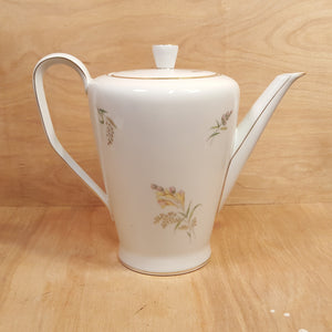 Vintage ROSENTHAL COFFEE POT w/ SUGAR BOWL & CREAMER ~ Summer Blossom