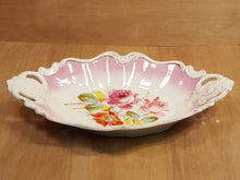 Load Image into Gallery Viewer, KPM Krister SERVING TRAY w/ PINK ROSES ~ Large Oval Handled Platter ~ Germany *