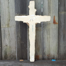"Load Image into Gallery Viewer, Large 21"" Chalkware Wall CRUCIFIX Cross ~ Vintage Jesus Catholic Mexico"