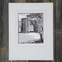Load Image into Gallery Viewer, SIGNED WOODBLOCK Art PRINT ~ West Port ST ANDREWS SCOTLAND ~ Magnus Dawson *