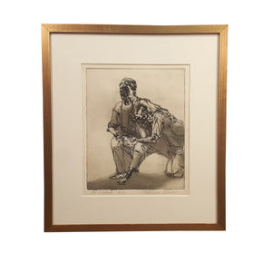 SIGNED PATRICIA TOBACCO FORRESTER Etching Art PRINT ~ The MOTHER