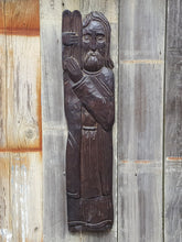 "Load Image into Gallery Viewer, Vintage WOOD CARVING 26"" Wall Hanging ~ MOSES w/ 10 Commandments"