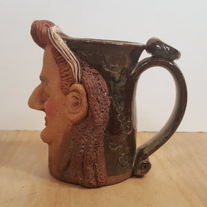 Vintage BOY GEORGE Culture Club MUG Tankard ~ Handmade Pottery Folk Art