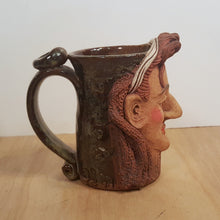 Load Image into Gallery Viewer, Vintage BOY GEORGE Culture Club MUG Tankard ~ Handmade Pottery Folk Art