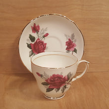 Load Image into Gallery Viewer, Vintage DUCHESS TEACUP + SAUCER Set ~ PANDORA Red Rose ~ England