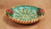 "Load Image into Gallery Viewer, Vintage ST PETER GRAZ AUSTRIA 10"" Ceramic FRUIT BOWL Grape and Leaf"