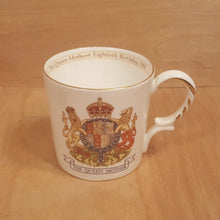 Load Image into Gallery Viewer, Vintage AYNSLEY Bone China MUG ~ QUEEN MOTHER 80th Birthday