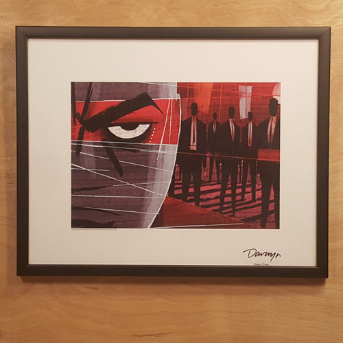 SIGNED DARWYN COOKE SILKSCREEN Print ~ PARKER Martini Ed ~ 2011 Ltd Ed 69/200