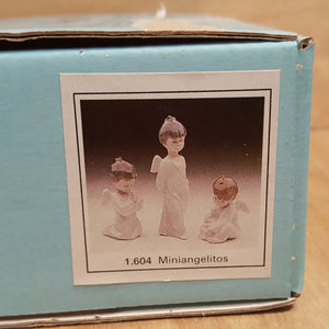 LLADRO Christmas Boy ANGEL ORNAMENTS in BOX ~ Retired Porcelain Set of 3