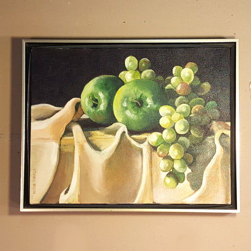 KATHE TANOUS LEVENSON OIL PAINTING ~ STILL LIFE Fruit ~ Signed Framed 15 x 12