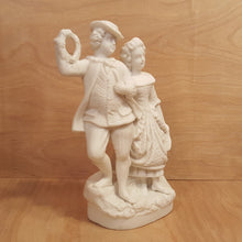 Load Image into Gallery Viewer, Vintage PARIAN Ware FIGURINE ~ COURTING COUPLE ~ White Porcelain Bisque