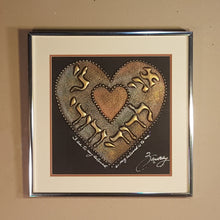Load Image into Gallery Viewer, SIGNED Joel ZARETSKY ~ Beloved HEART ~ Framed Metallic Drip Judaica Art Painting
