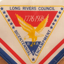 Load Image into Gallery Viewer, NOS BOY SCOUTS BSA NECKERCHIEF ~ Long Rivers Council CT Bicentennial 1976