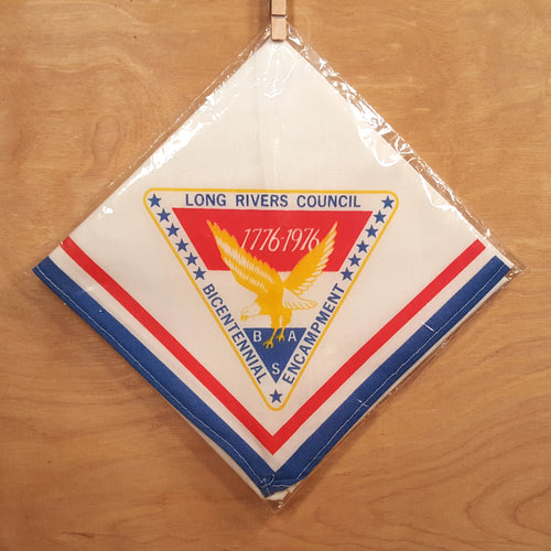 NOS BOY SCOUTS BSA NECKERCHIEF ~ Long Rivers Council CT Bicentennial 1976