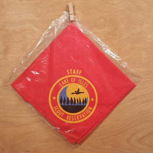 BOY SCOUTS Staff NECKERCHIEF ~ Lake of Isles CT Scout Reservation ~ 9 Trees
