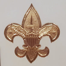Load Image into Gallery Viewer, BOY SCOUTS GREETING CARDS ~ Set of 24 ~ BSA Emblem Gold Embossed