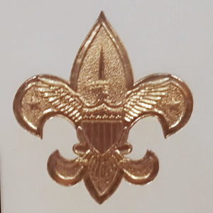 BOY SCOUTS GREETING CARDS ~ Set of 24 ~ BSA Emblem Gold Embossed