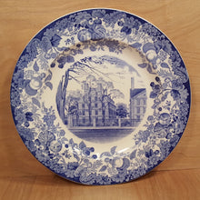 Load Image into Gallery Viewer, Antique WEDGWOOD CHINA PLATE ~ HARVARD Straus Hall ~ Blue Transferware