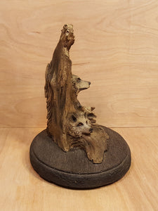 BILL VERNON Limited Edition WOLVES SCULPTURE Figurine ~ THREE WOLF
