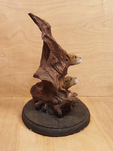 BILL VERNON Limited Edition OTTER SCULPTURE Figurine ~ Water Waltz ~ Series of E