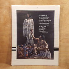 Load Image into Gallery Viewer, Vtg PENNI CROSS Art PRINT ~ NATIVE AMERICAN Couple ~ Bible Quote ~ Crow Tribe