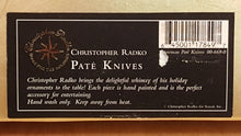 Load Image into Gallery Viewer, SET of 4 SNOWMAN CHEESE SPREADERS ~ Christopher Radko Stainless Steel Pâté Knife