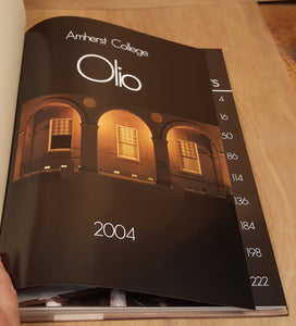 2004 AMHERST COLLEGE YEARBOOK ~ Olio 1st Ed 244 pgs Vol. 148