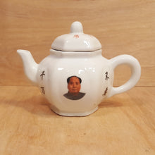 "Load Image into Gallery Viewer, Vintage Chairman MAO PORTRAIT PORCELAIN 4"" TEAPOT ~ Chinese Cultural Revolution"