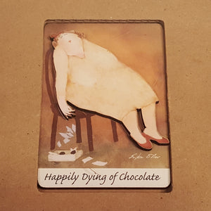 ERIKA OLLER Kitchen Trio ~ Death By Chocolate ~ Napkins Fridge Pad Magnet *