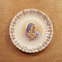 "Load Image into Gallery Viewer, Vintage 10"" Collector PLATE Immaculate Heart VIRGIN MARY Sanders Mfg Tennessee *"