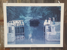 Load Image into Gallery Viewer, SIGNED Art PRINT ~ Mediterranean FRANCE BOAT LOCK  ~ Stanley ROSENFELD *