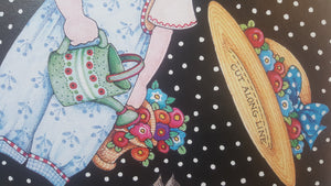 "SIGNED Numbered Art PRINT ~ MARY ENGELBREIT ~ PAPER DOLLS ~ 26 x 21"" *"