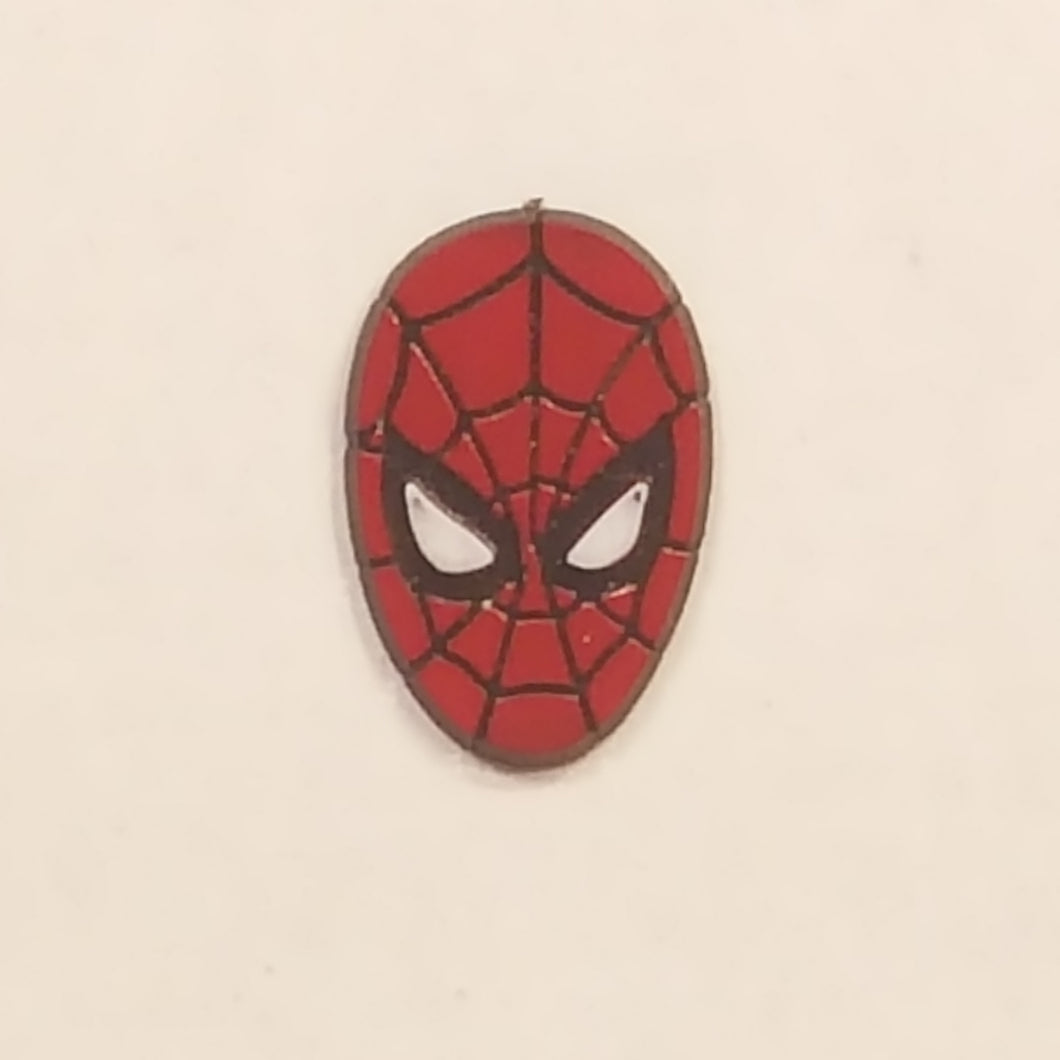 Vintage 1990 MARVEL SPIDER-MAN Head Plastic PIN ~ RARE *