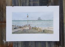 Load Image into Gallery Viewer, 1970 SIGNED Numbered Art PRINT ~ Maritime WHALING SHIP ~ Robert R NEWELL *