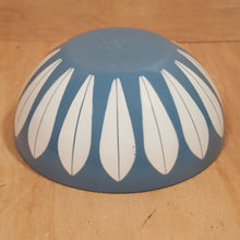 "Load Image into Gallery Viewer, Vintage CATHRINE HOLM 5.5"" BOWL ~ Blue Lotus Enamelware ~ Norway"