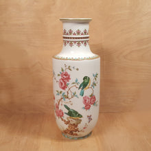 "Load Image into Gallery Viewer, Vintage KAISER PORCELAIN 13.75"" VASE ~ Taiwan Pattern w/ Birds Flowers"