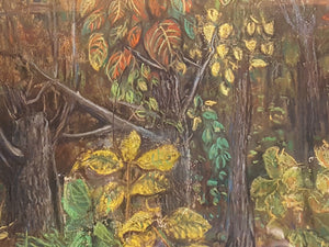 SIGNED FOREST Landscape Oil PASTEL Art ~ Phyllis A FURDELL Virginia/DC Artist
