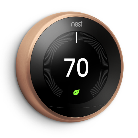 3rd Gen Nest Learning Thermostat - Copper
