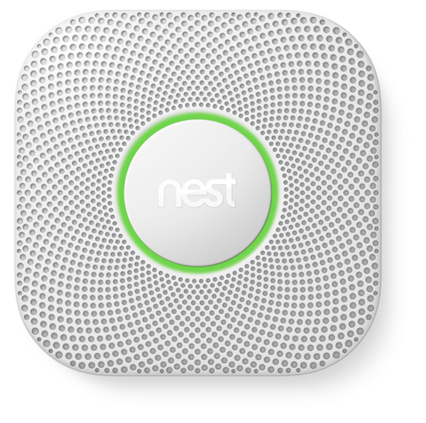Nest Protect Smoke + Carbon Monoxide Alarm Front Image Green Ring