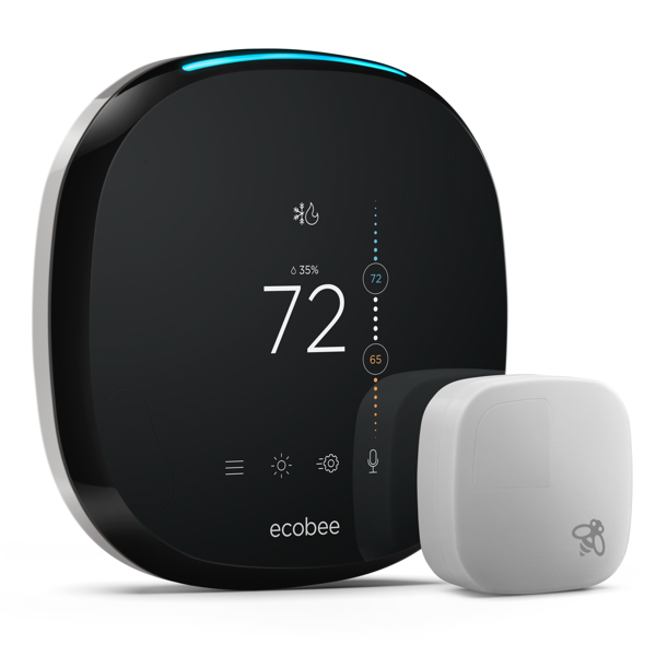 ecobee4 Smarter Wi-Fi Thermostat + 2 Room Sensors image 2558853021755